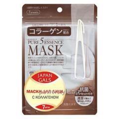 Маска для лица ТМ Джепен Гелс / Japan Gals с коллагеном Pure 5 Essential №7