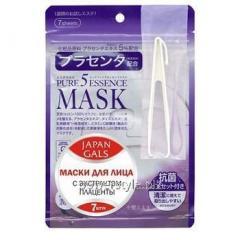 Маска для лица ТМ Джепен Гелс / Japan Gals с плацентой Pure 5 Essential №7
