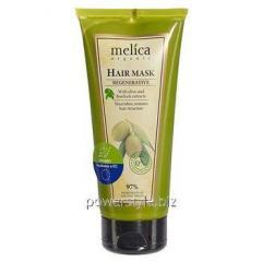 Маска регенерирующая для волос ТМ Мелиса Органик / Melica Organic с экстрактом лопуха и оливы 200 мл