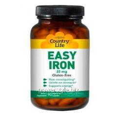 Минералы Easy Iron 25 мг 90 капсул ТМ Кантри Лайф