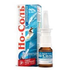 Но-Соль очищающий спрей для увлажнения и промывания носа 10мл