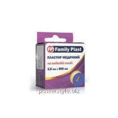 Пластырь медицинский FP Family Plast на шелковой