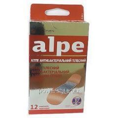 Пластырь телесный антибактериальный с ионами серебра классик ТМ Алпе / Alpe №12