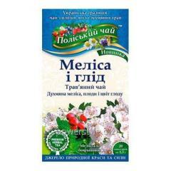 Полесский чай Мелисса и боярышник 20 пакетиков по