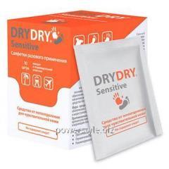 Салфетки разовые от пота Dry Dry sensitive/ Драй