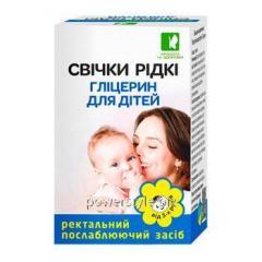 Свечки Глицерин жидкие для детей Евро форма 6 мл