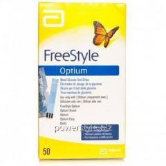 Тест-полоски к глюкометру Фристайл Оптиум / FreeStyle Optium №50