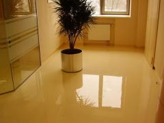 Bulk epoxy floor, polymeric floor