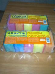 Sponges kitchen for washing of ware, the Praktik