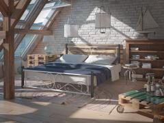 Кровать Tenero Нарцисс на деревянных ногах...