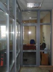 Межкомнатные металлопластиковые и алюминиевые двери