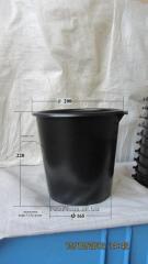 Bucket polyethylene without handles, 5 liter