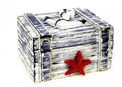 M18-370264, Шкатулка декоративная, , белый-синий
