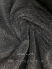 Мех искусственный серый овчина 400 гр/м