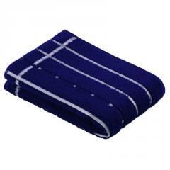 Полотенце Vossen Quadrati махровое сине-белое
