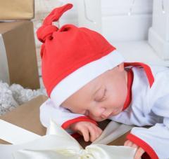 Шапочка Санта Клауса Шапка, трикотаж (интерлок),