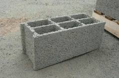 Blocks are wall, construction material from the