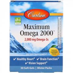 Carlson Labs,  Maximum Omega 2000,  Natural...