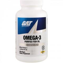 Омега-3 GAT,  вкус лимона,  90 мягких капсул