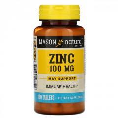 Цинк Mason Natural,  100 мг,  100 таблеток