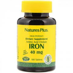 Железо от Nature's Plus,  40 мг,  180...
