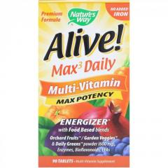 Nature's Way,  Alive! Max3 Daily,  Multi-Vita