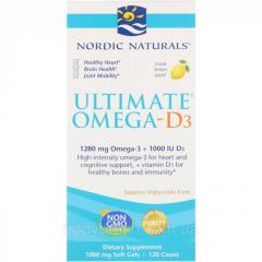 Конечная Oмега-D3 Nordic Naturals,  вкус...