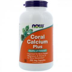 Коралловый кальций плюс Now Foods, ...