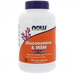 Глюкозамин и МСМ Now Foods, 180 растительных...