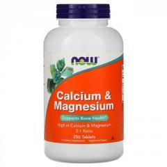 Кальций и магний Now Foods ,  250таблеток