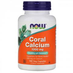 Коралловый кальций Now Foods 1000 мг,  100...