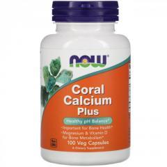 Коралловый кальций Плюс Now Foods,  100...