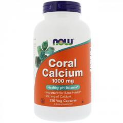Коралловый кальций Now Foods,  1000 мг,  250...
