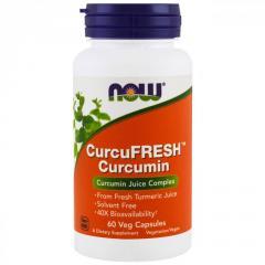 Куркумин CurcuFresh Now Foods,  60 вегетариан