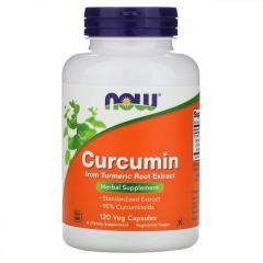 Куркумин Now Foods,  120растительных капсул