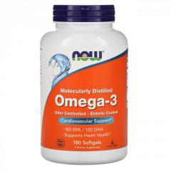 Омега-3 Now Foods,  180 мягких капсул
