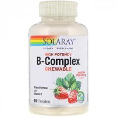 Solaray, High Potency B-Complex Chewable, Natural