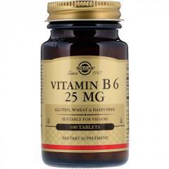 Витамин B6 Solgar,  25 мг,  100 таблеток