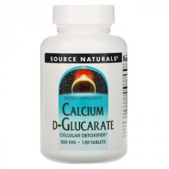 Кальций с D-глюкаратом Source Naturals,  500...