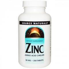 Цинк Source Naturals 50 мг,  250 таблеток