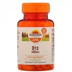 Витамин B-12 Sundown Naturals,  витамины...