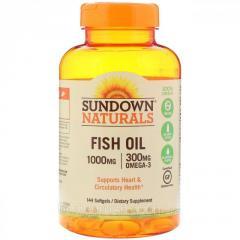 Рыбий жир Sundown Naturals,  1000 мг,  144...