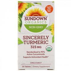 Куркума от Sundown Organics,  315 мг,  30...
