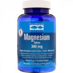 Магний от Trace Minerals Research,  300 мг, ...