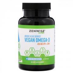 Вегетарианская Омега-3 Zenwise Health, 120...