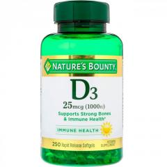 Витамин D3 от Nature's Bounty,  25 мкг (1000...