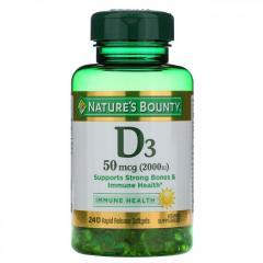 Витамин D3 Nature's Bounty,  50 мкг (2000...