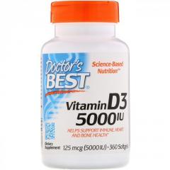 Витамин D3,  125 мкг (5000 МЕ),  Doctor's...