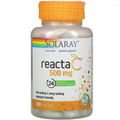 """Витамин C 500 мг """"Reacta-C"""" от Solaray,  120..."""