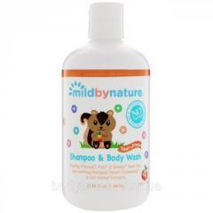 Детский шампунь без слез с запахом персика Mild By